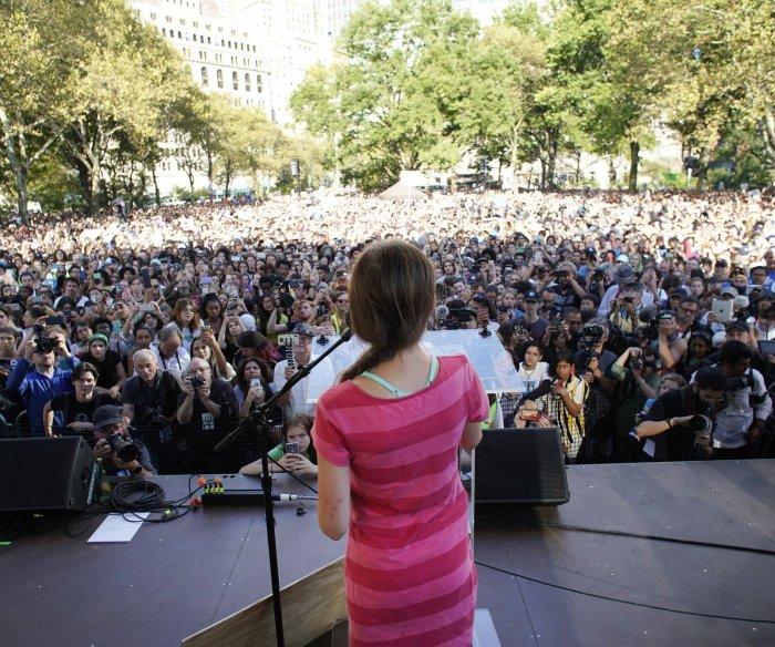 Greta Thunberg at climate strike: 'We demand a safe future'
