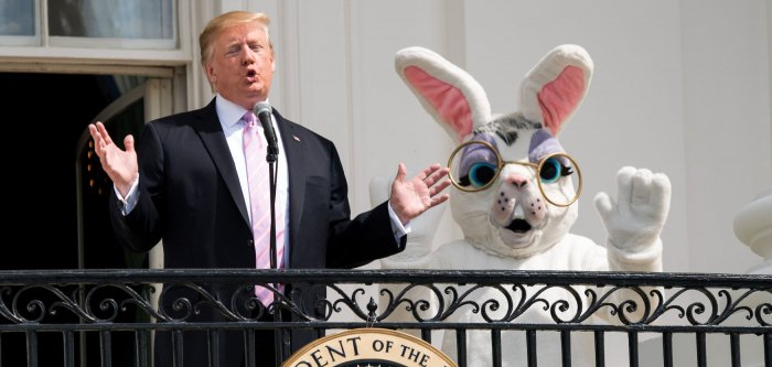 President Trump hosts the Easter Egg Roll at the White House