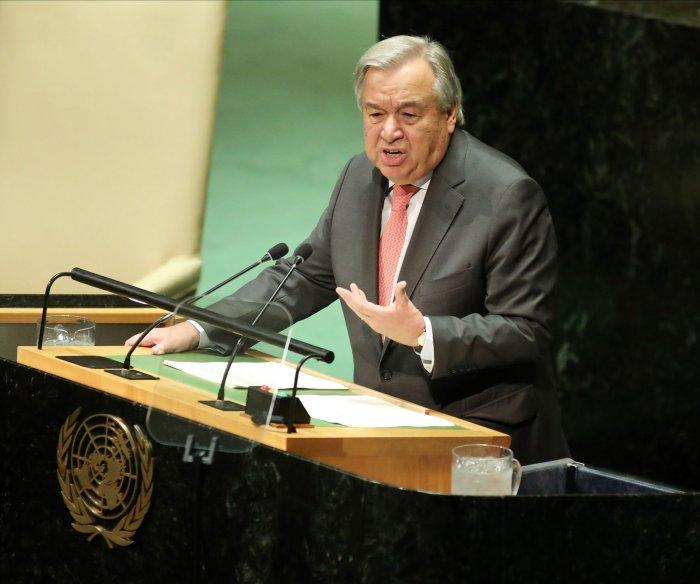 U.N. chief: COVID-19 threatens world peace, security