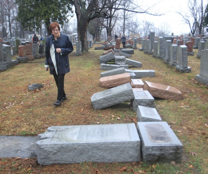 I cover hate; I didn't expect it at my family's Jewish cemetery