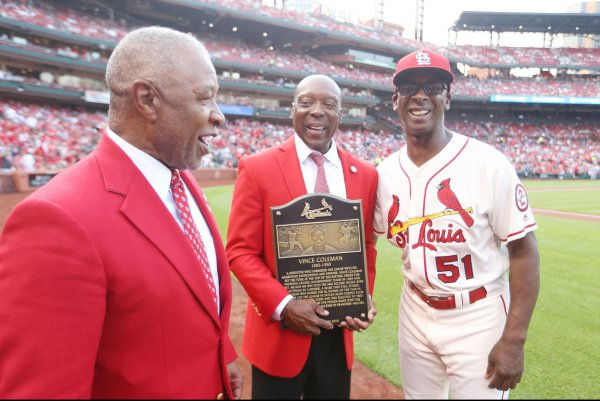 Vince Coleman, Ray Lankford inducted into St. Louis Cardinals' Hall of Fame