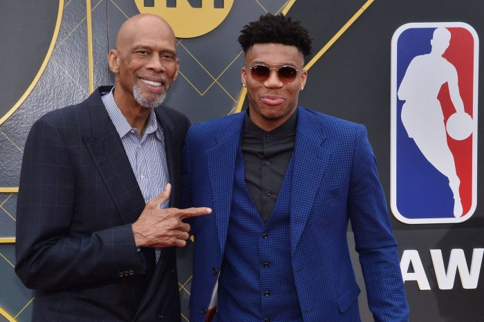 Kareem Abdul Jabbar, Giannis Antetokounmpo attend the NBA Awards