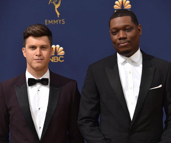 Emmys: Michael Che, Colin Jost roast diversity, #MeToo, 'Roseanne'