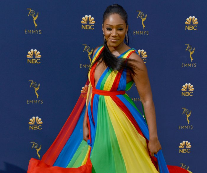 Tiffany Haddish wears dress in honor of Eritrean flag to Emmys