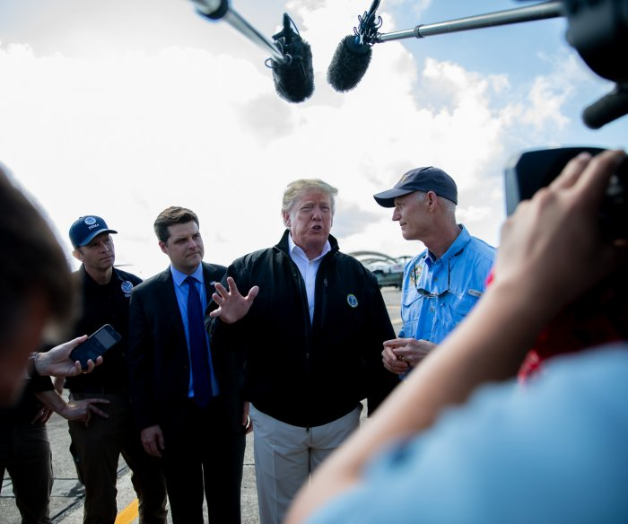 Trump, first lady tour hurricane-hit Florida; Georgia next