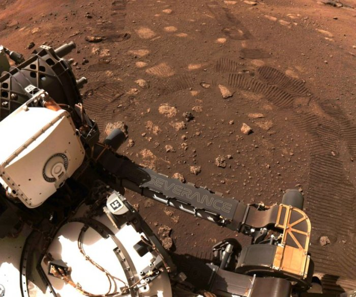 Mars rover Perseverance makes first drive on Red Planet
