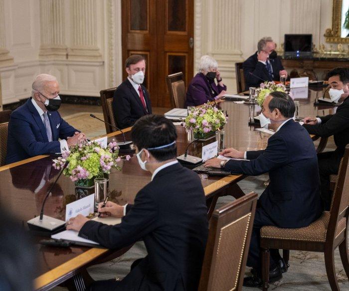 Biden hosts Japan PM Yoshihide Suga in 1st in-person summit