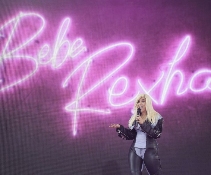 Bebe Rexha performs on the 'Good Morning America'