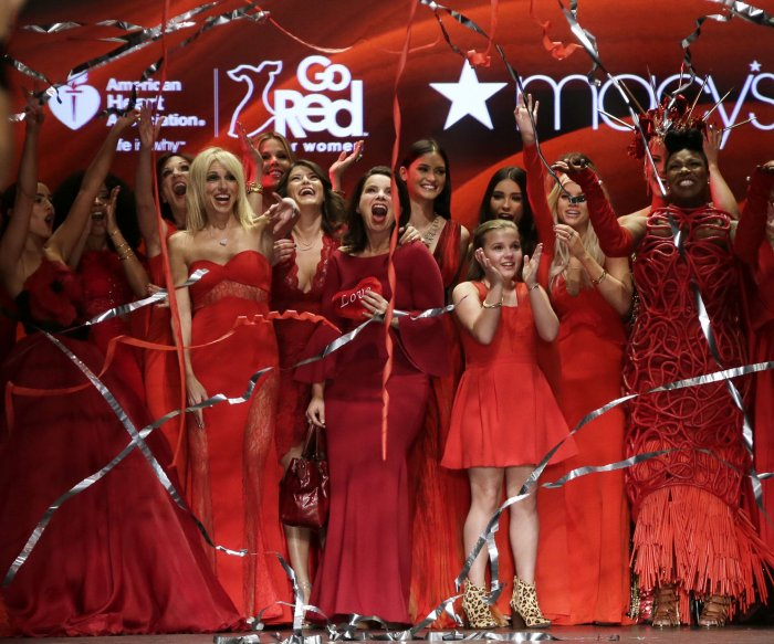 Celebs model Red Dress Collection 2016