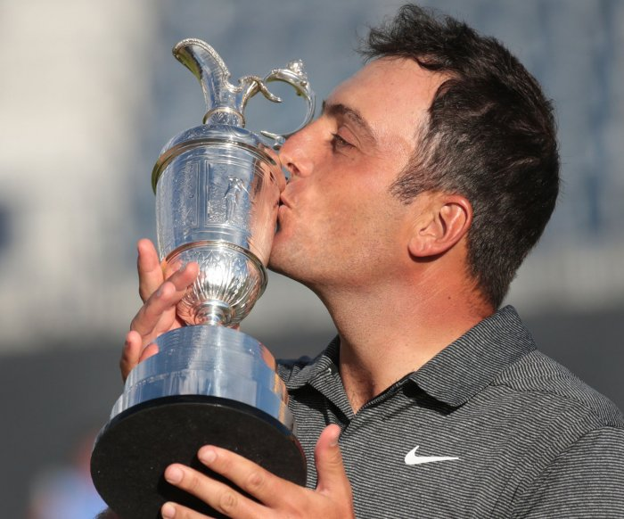Italy's Francesco Molinari wins golf's Open Championship in Scotland