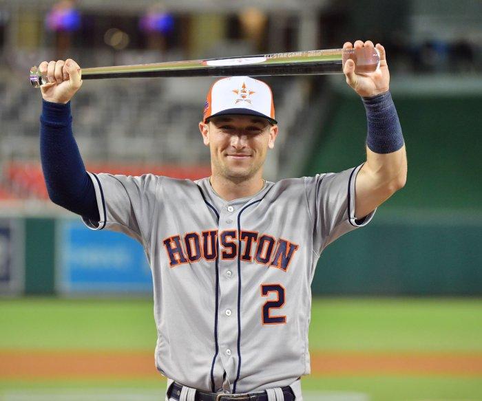Houston Astros' Alex Bregman wins MVP award at All-Star Game