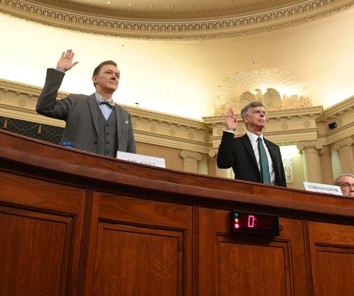 Impeachment hearing: Diplomat says Ukraine aid depended on Biden probes