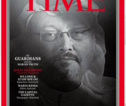 Time names Khashoggi, targeted journalists as 2018 'Person of Year'