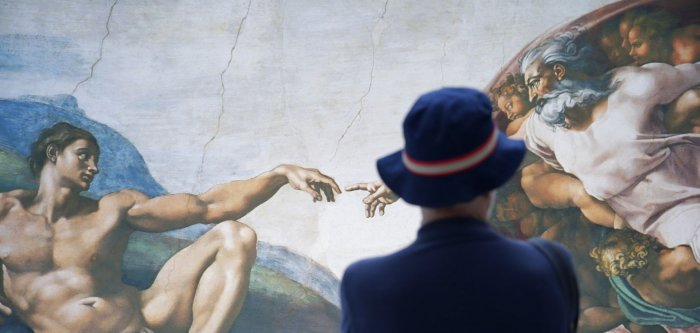 Michelangelo's Sistine Chapel frescoes recreated in photos in New York City