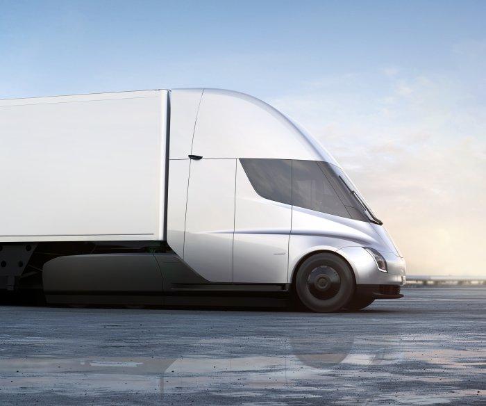 Tesla unveils electric semi-truck, new sports car