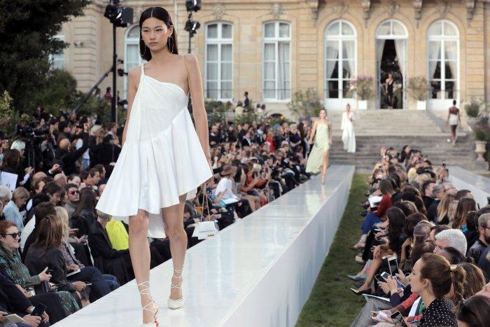 On the runway at Paris Fashion Week