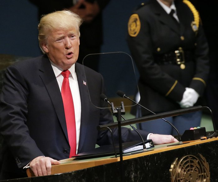 Trump champions North Korea policy in U.N. speech