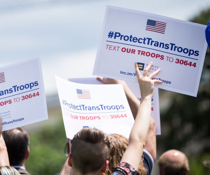Pentagon says it will allow transgender recruits after judge's order