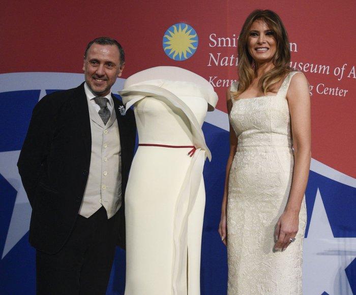 Melania Trump donates inaugural gown to Smithsonian