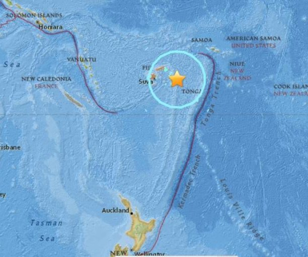 Major earthquakes strike near Fiji, Indonesian island