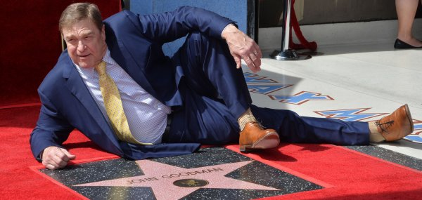 John Goodman honored with star on Hollywood Walk of Fame