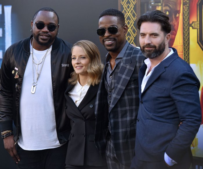 Sterling K. Brown, Jodie Foster attend 'Hotel Artemis' premiere