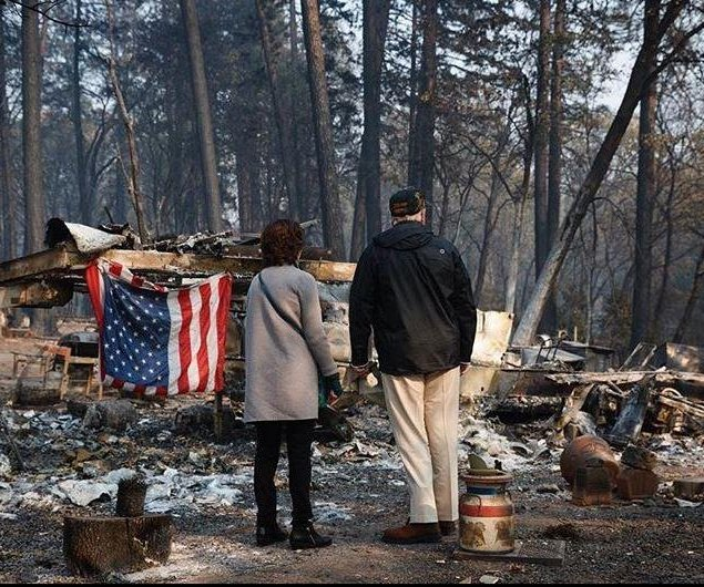 Trump surveys Camp Fire damage as deaths rise to 76; missing tops 1,000
