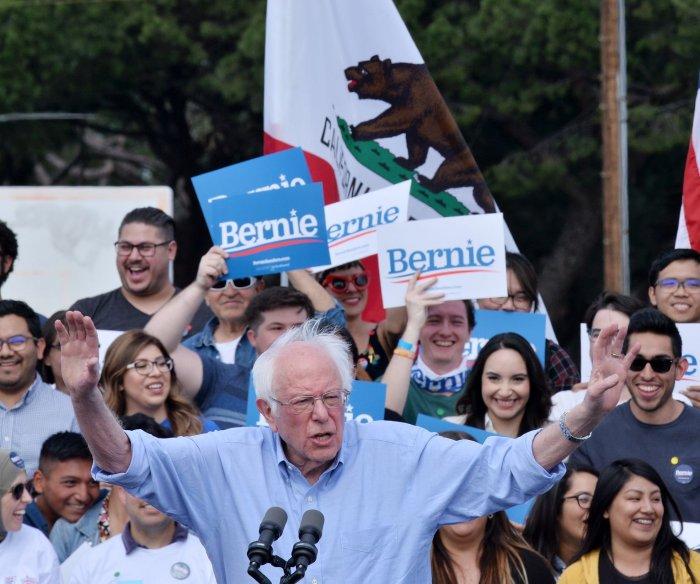 Sanders overwhelms foes in Nevada caucuses