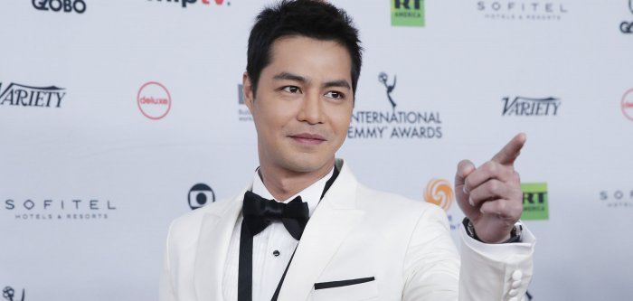 On the red carpet at the International Emmy Awards