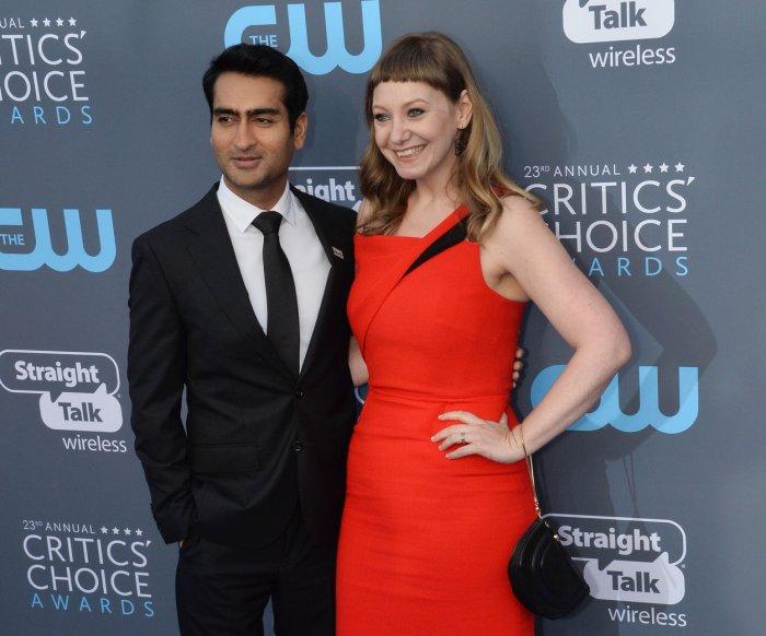 On the blue carpet at the Critics' Choice Awards