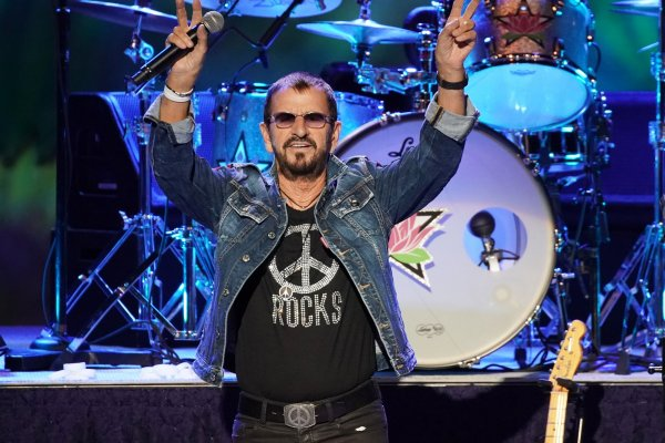 Ringo Starr performs at Woodstock 50th anniversary festival
