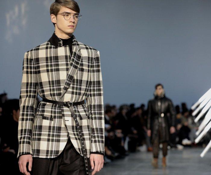 On the runway at Paris Men's Fashion Week