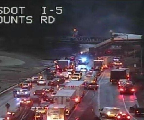 Amtrak train derails, crashes from overpass near Seattle
