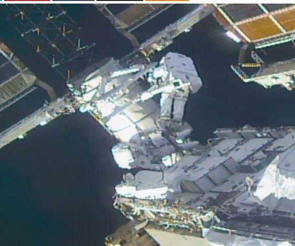 Two NASA astronauts perform 7-hour spacewalk