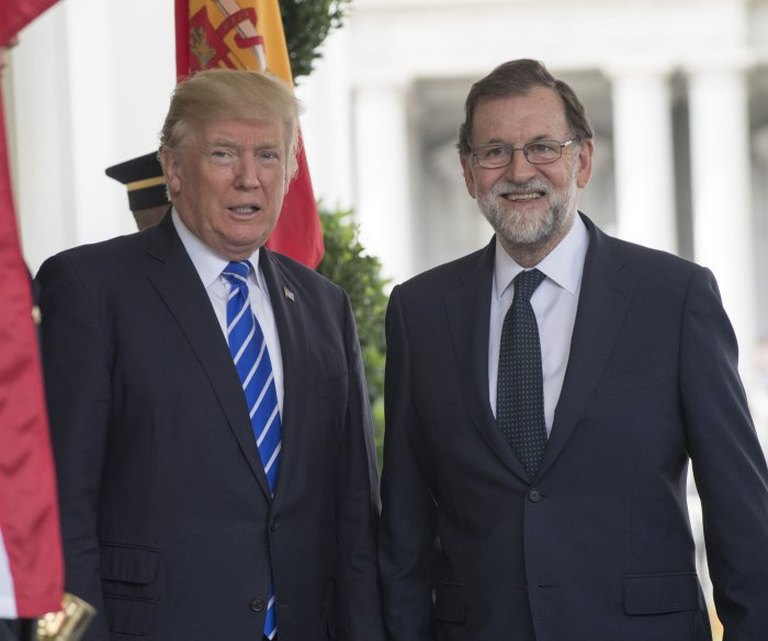 Trump, Rajoy united against North Korea actions, Catalonia referendum
