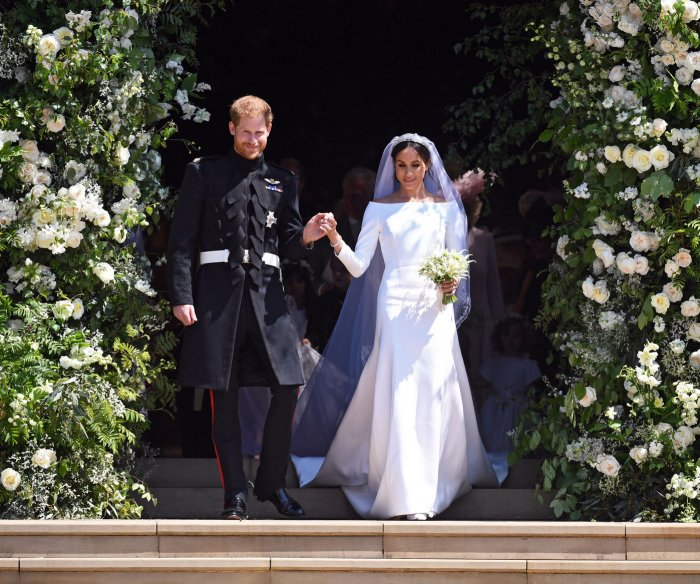 Meghan Markle wears wedding gown by British designer Clare Waight Keller