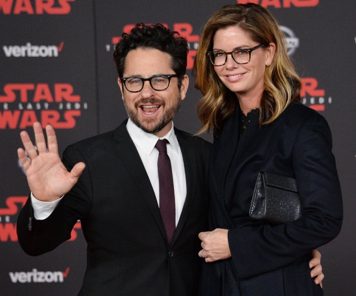 J.J. Abrams, Lupita Nyong'o walk the red carpet at 'The Last Jedi' premiere