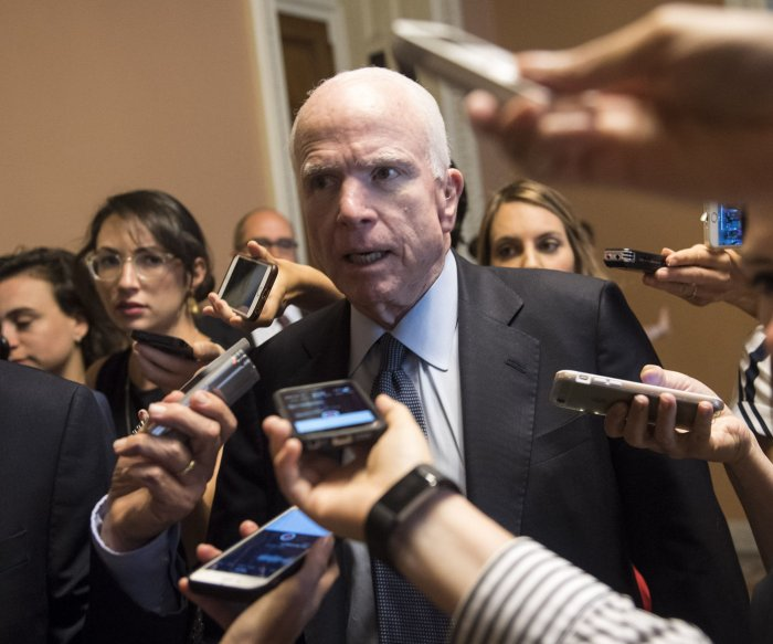 Sen. McCain to miss GOP tax plan vote