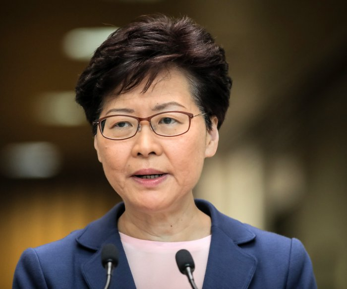 Hong Kong's Carrie Lam promises 'housing for all' amid protests