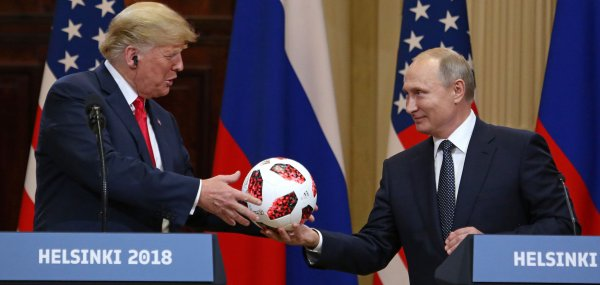 President Trump meets with Russian President Putin in Helsinki
