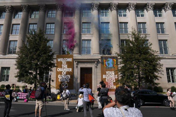 Climate change demonstrators gather in Washington, D.C.