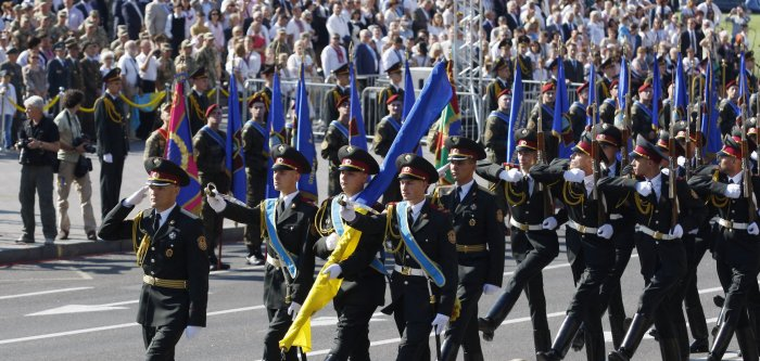 Ukrainian Independence Day military parade in Kiev