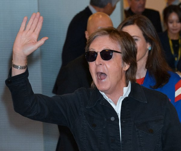 Paul McCartney arrives for concert in Tokyo