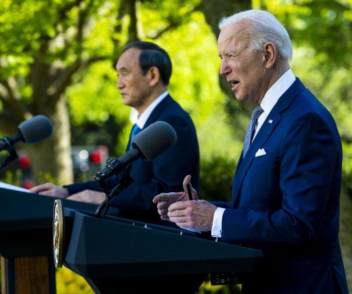 Biden, Japanese PM Suga reaffirm alliance, address China in summit