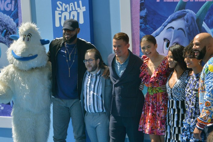 LeBron James, Zendaya attend 'Smallfoot' premiere