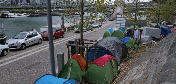 Paris Migrant Camp