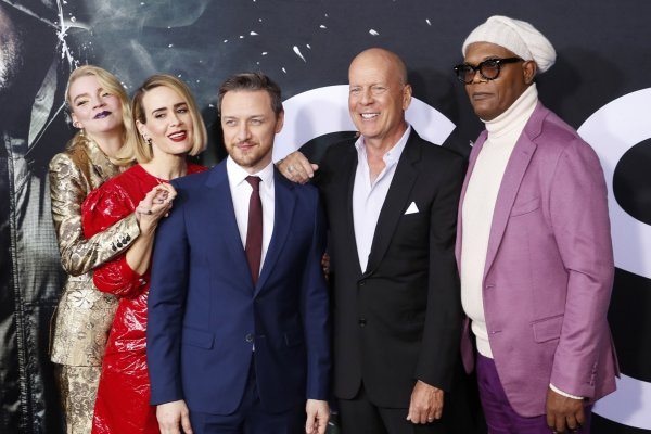 Samuel L. Jackson, James McAvoy attend 'Glass' premiere