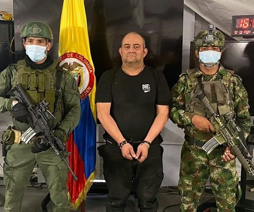 Colombian drug lord Usaga captured by military forces