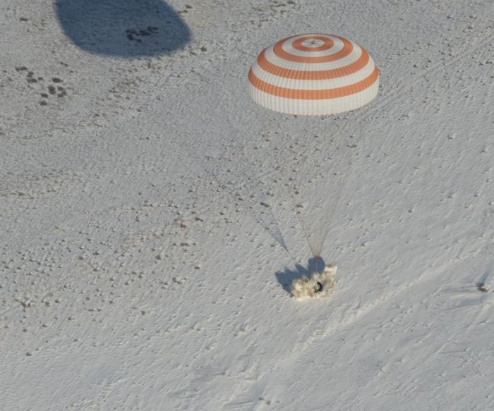 Expedition 53 trio returns from space station