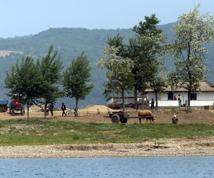 The North Korean border